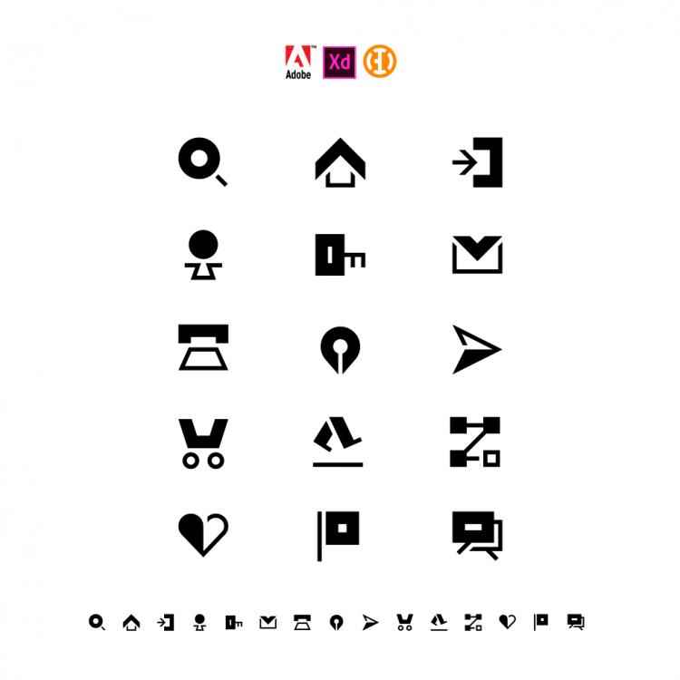 Icon Kit For Adobe Xd Buro Destruct