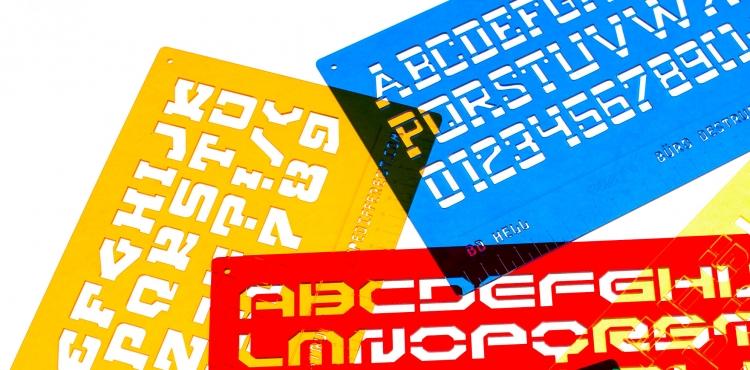 Typedifferent Font Stencils | Büro Destruct