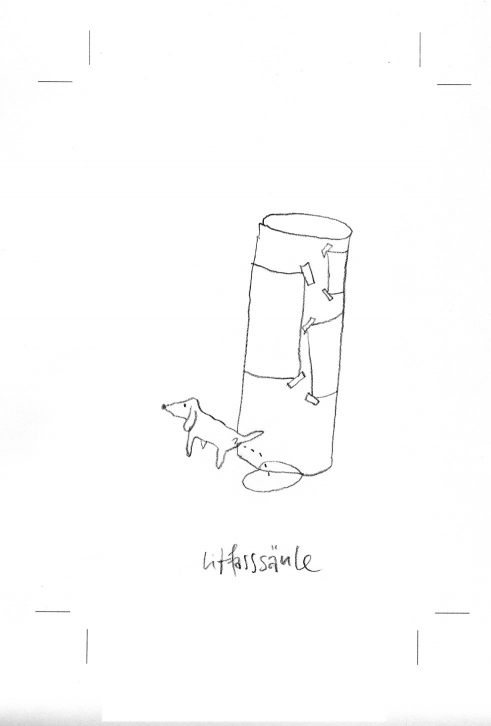 Litfassäule -  Takeaway - 100 Sekunden Wissen book illustration