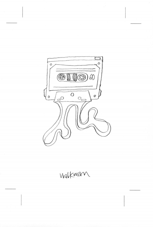 Walkman -  Takeaway - 100 Sekunden Wissen book illustration