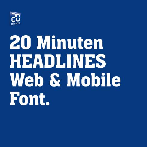 20 Minuten online custom font