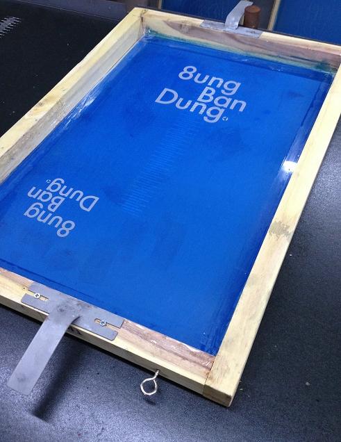 8ung BanDung T-shirt silkscreening
