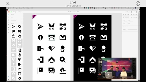 Adobe Xd Icon Kit by Büro Destruct live from the AWWWARDS 2018 Berlin