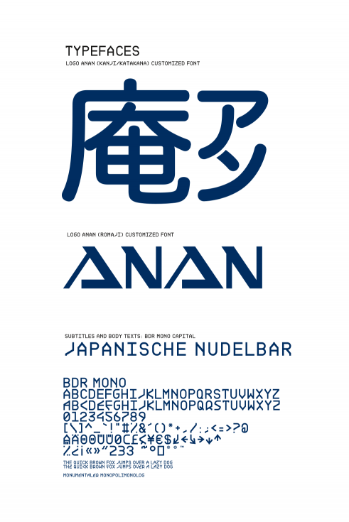 AnAn Japanese Noodle Bar typefaces