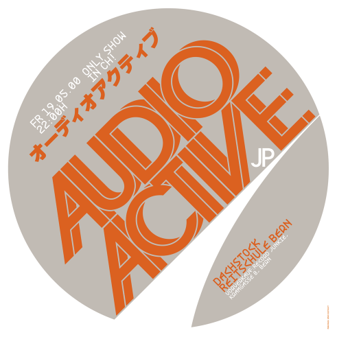 Audio Active concert poster and flyer 2000