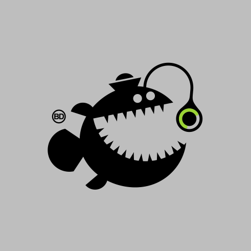 Anglerfish vector design