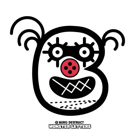 Monster Letters B