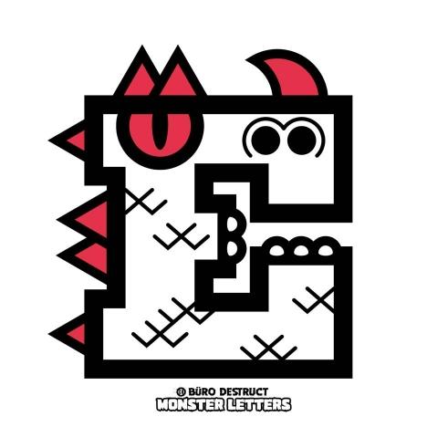 Monster Letters E