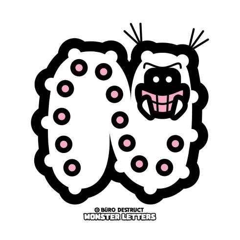 Monster Letters N