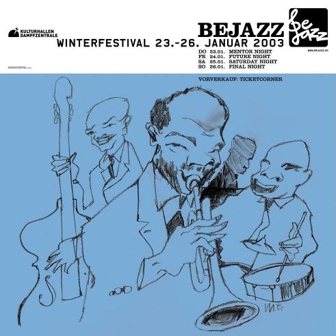 Bejazz Winterfestival poster 2003