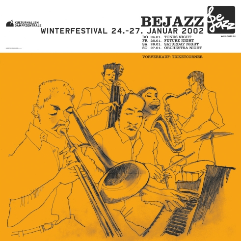 Bejazz Winterfestival poster 2002