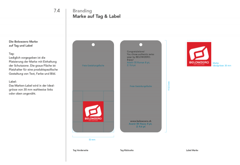 Belowzero corporate identity manual