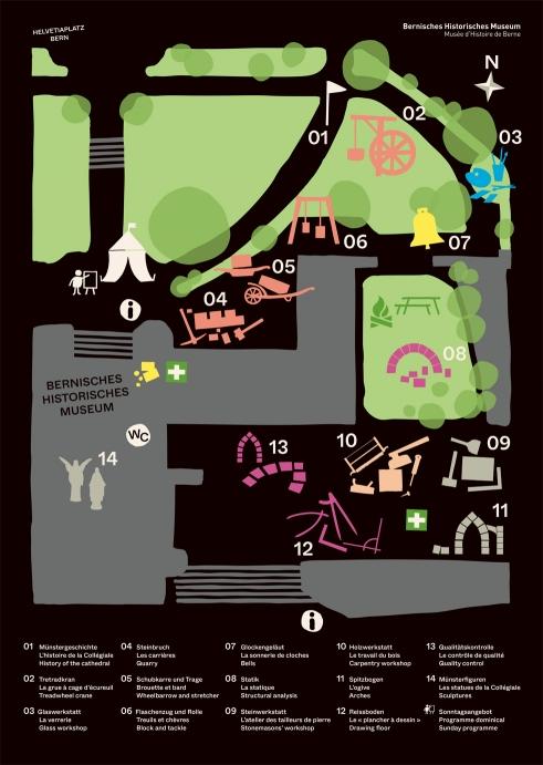 Erlebnis Münsterbau, BHM exhibition map