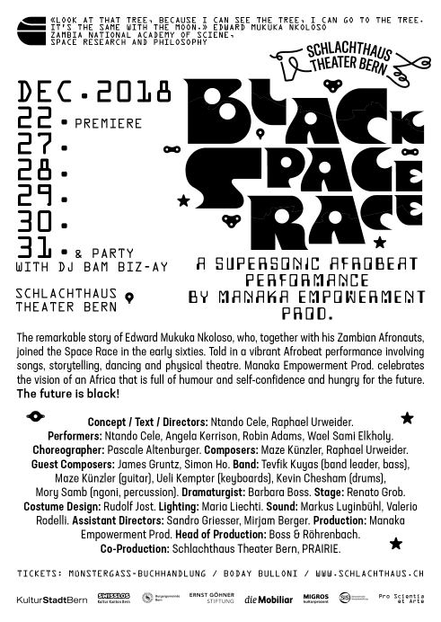 Black Space Race postcard backside