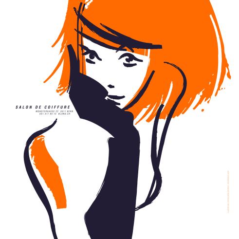 Blond Salon de Coiffure poster
