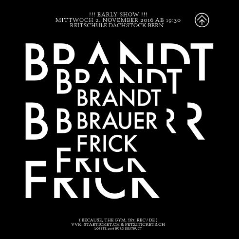 Brandt Brauer Frick poster 2016