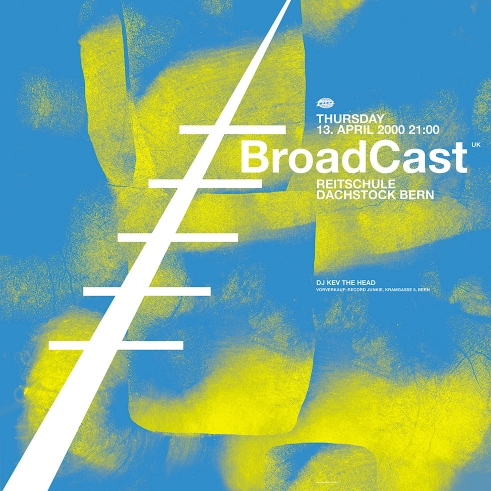 Broadcast concert poster and flyer 2000