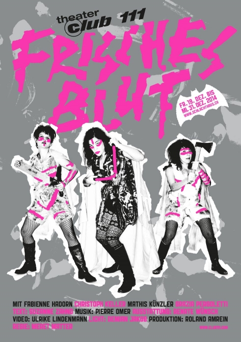 Frisches Blut Theater Club 111 flyer A5