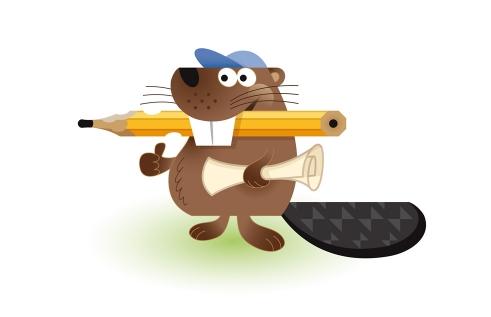 ClubDesk Beaver character