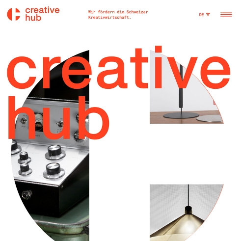 Creative Hub logotype and website