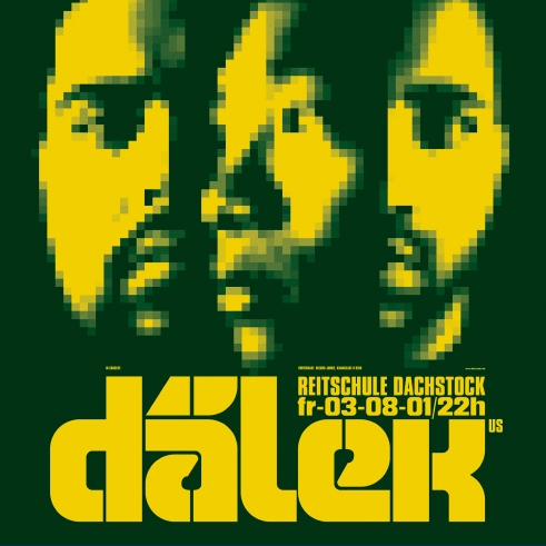Dälek concert poster and flyer 2001