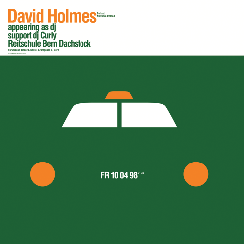 David Holmes concert poster and flyer 1998