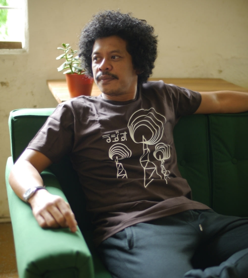Eddi Brokoli with BD T-Shirts