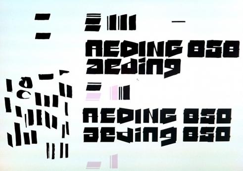 Edding850 Font constructing