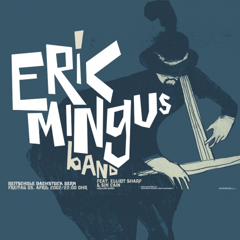 Eric Mingus concert poster and flyer 2002