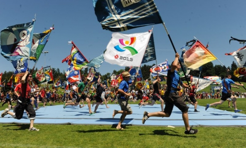 Eidgenössisches Turnfest 2013 Fahnenlauf