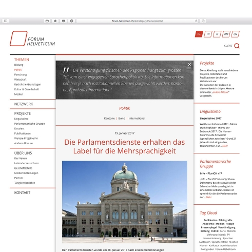 Forum Helveticum website