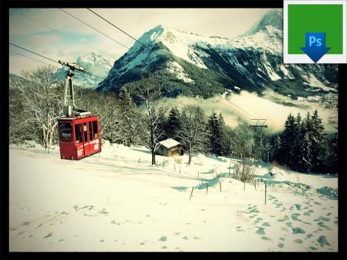 """BD Vintage Foto Droplet """"Green"""" for Photoshop"""
