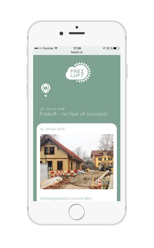 Freiluft website mobile