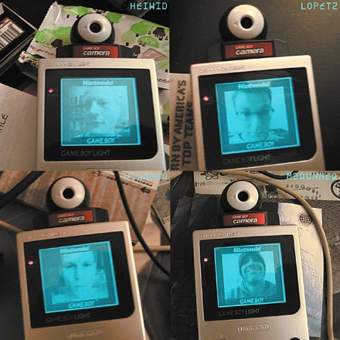 Büro Destruct Gameboy Camera selfies