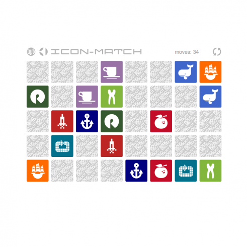 Icon Match HTML 5 memory game