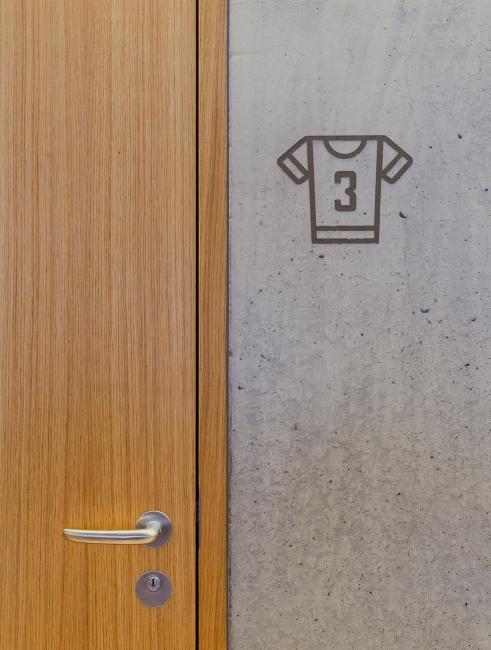 Signage Turnhalle Bitzius