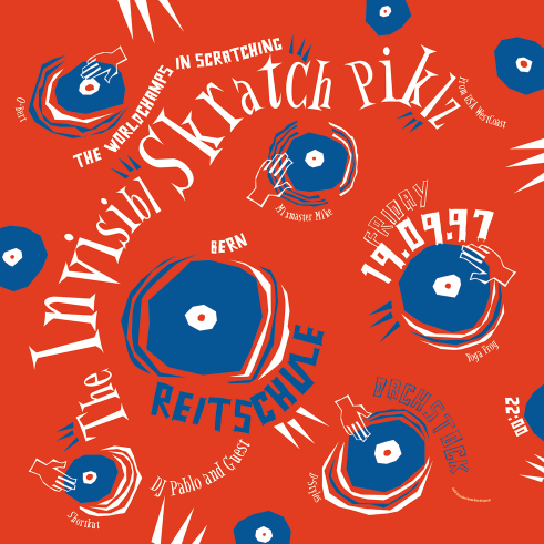 The Invisibl Skratch Piklz concert poster and flyer 1997
