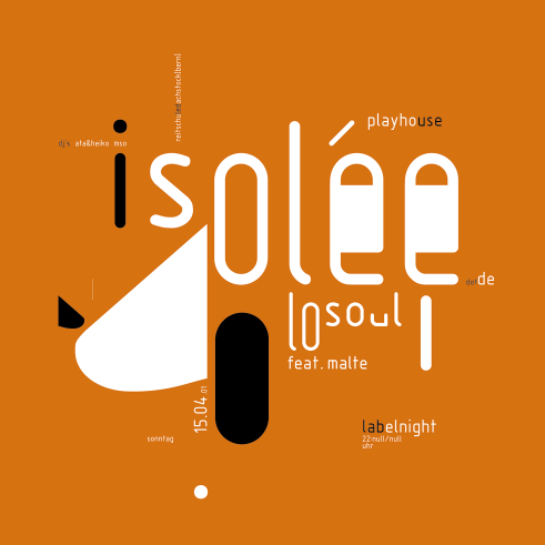 Isolée concert poster and flyer 2001
