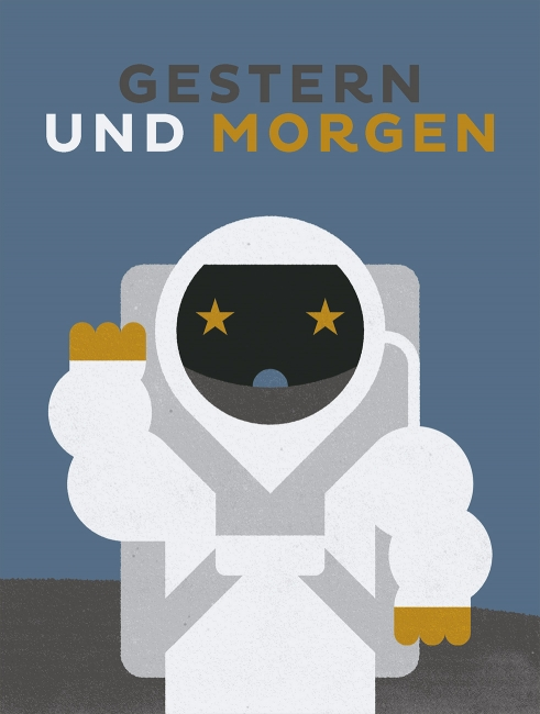 Kinderfragebuch illustration astronaut