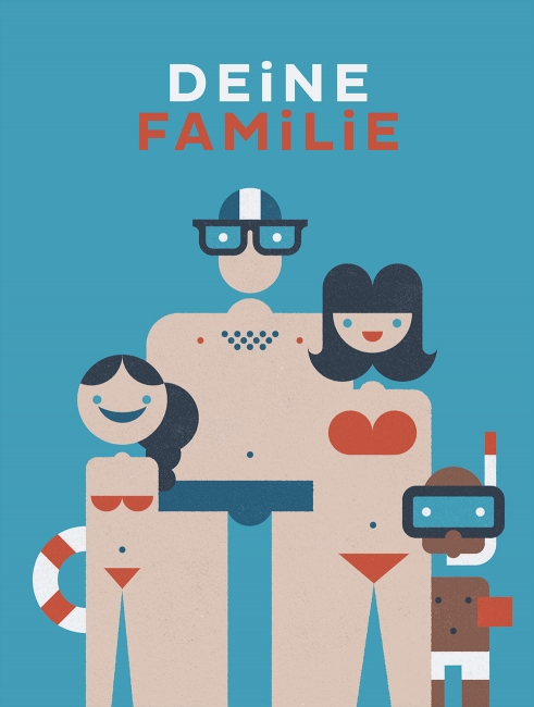 Kinderfragebuch illustration familie
