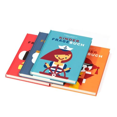 Kinderfragebuch book covers