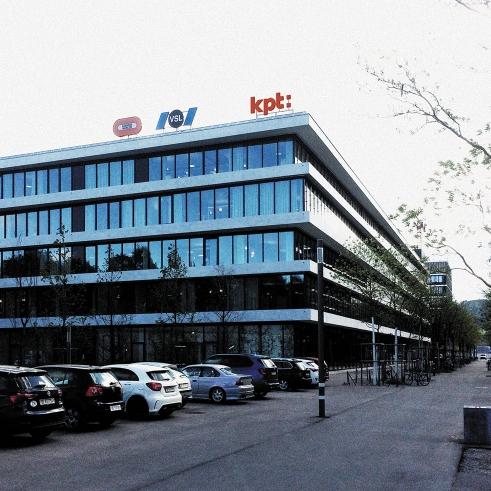 KPT logotype on the roof of the headoffice
