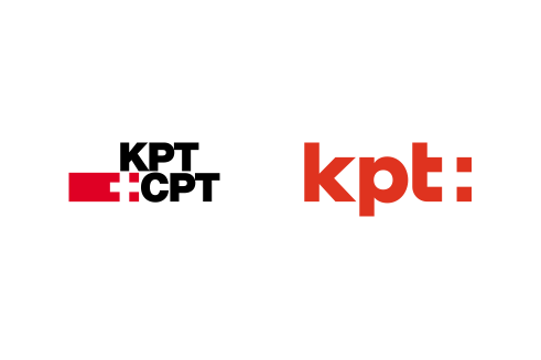 KPT logotype before and after