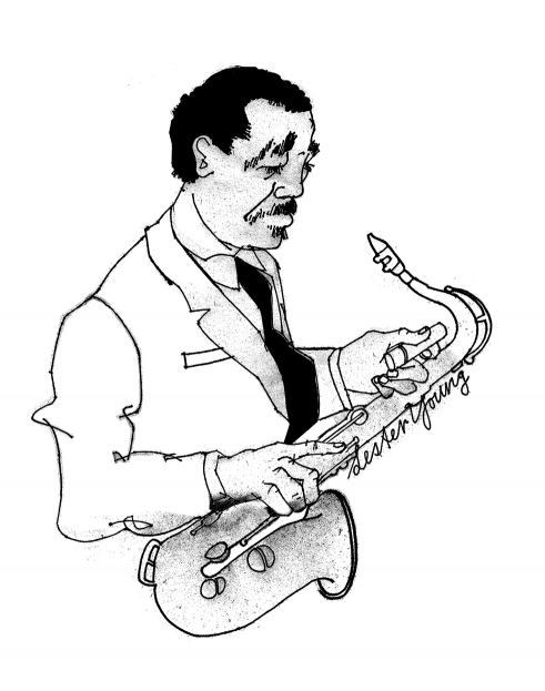 Lester Young illustration