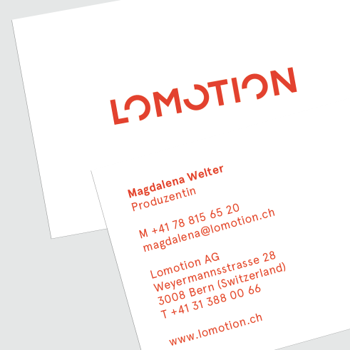 Lomotion business card