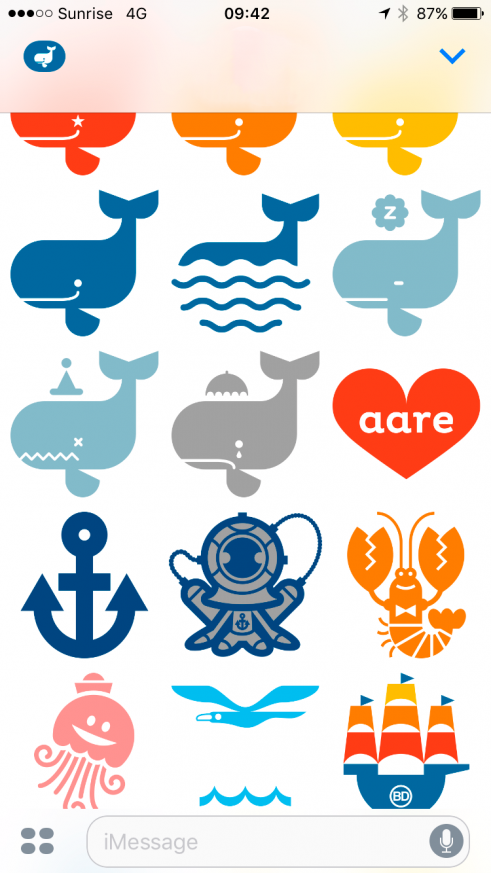 mAARE iPhone app update with iMessage sticker set