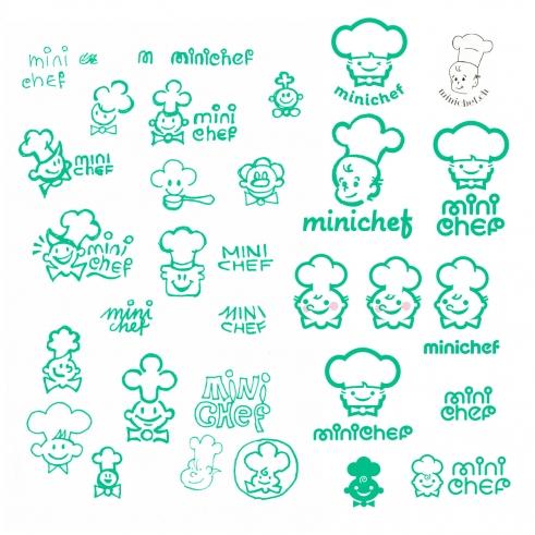 Minichef logotype sketches