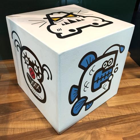 Monster Letters cube