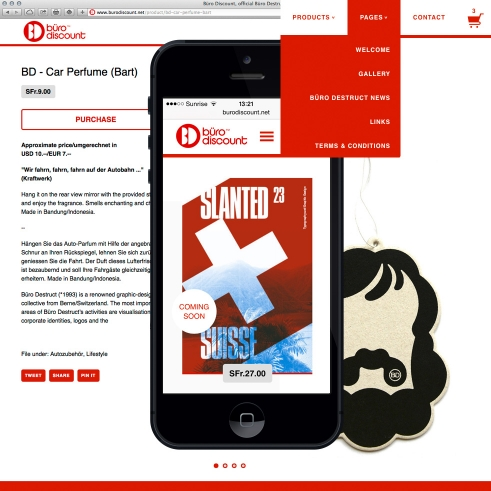 Büro Discount online-shop design
