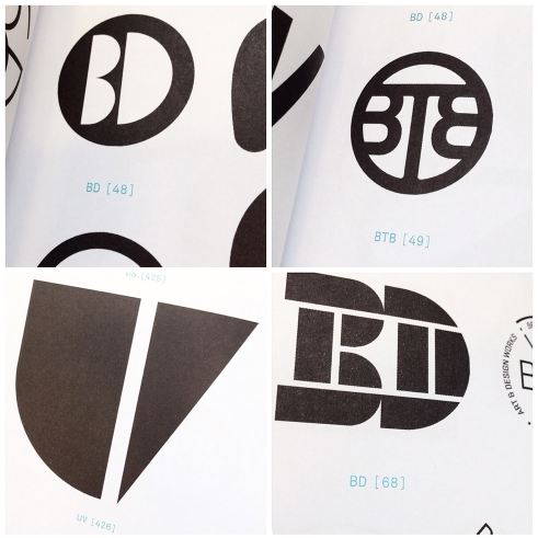 Monogram Logo book samples